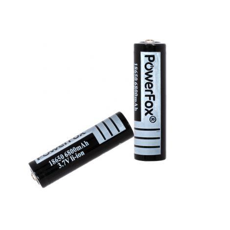 PowerFox 2x 18650 batterijen - 6800Mah